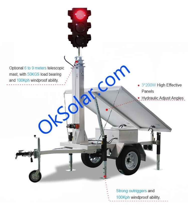 4 Way Solar Traffic Signal Control, Four 4 Way Traffic Light, 4 Way Solar Traffic Signal Control Portable, 4 Way Solar Traffic Signal control, Solar Traffic Lights 4 Ways Traffic Signal Control, Solar Powered Traffic Warning Light, 4 Way Traffic Signal control, Remote Control Portable Traffic Signal Lights, temporary four ways solar traffic light, 4-Way intersections, Traffic light 4 way
