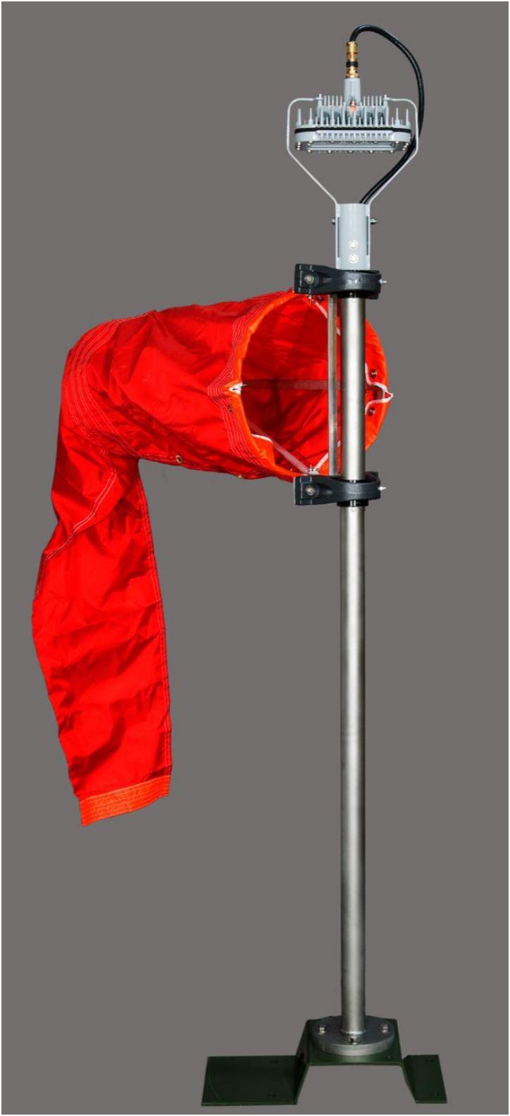 IQAirport.com Solar Portable Wind Cone