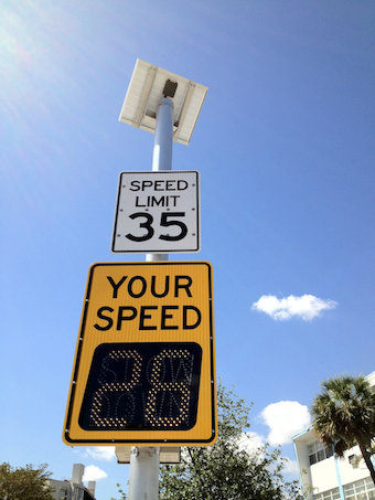 IQTraffiControl.com Solar Powered Speed Limit Signs